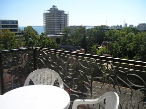 South facing balcony with panoramic views of Sunny Beach and Old Nessebar
